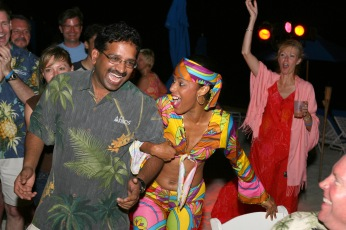 Afilias last night sunset sail and Caribbean Dance party @ the Ritz Carlton St. Thomas, USVI 111705