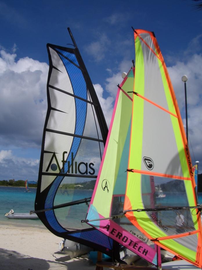 windsurfing sail Afilias logo